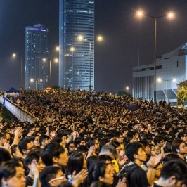 the crowd at admiralty